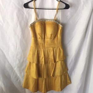 Mustard colored party dress